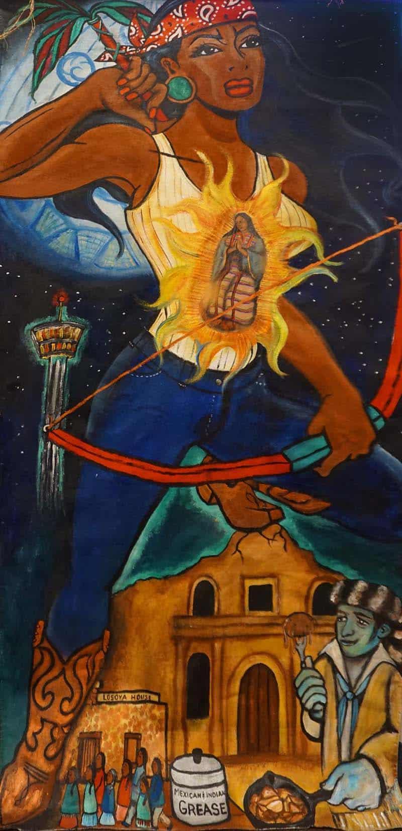 Deborah Citlali Vasquez, acrylic on canvas, 2018