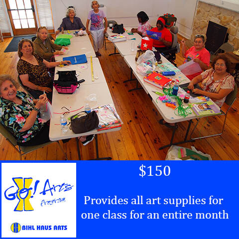 Donate $150 to Bihl Haus Arts to provide all art supplies for one class for an entire month