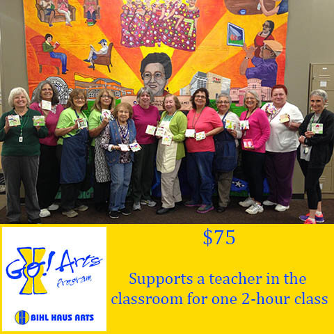 Donate $75 to Bihl Haus Arts and support a teacher in the classroom for one 2-hour class