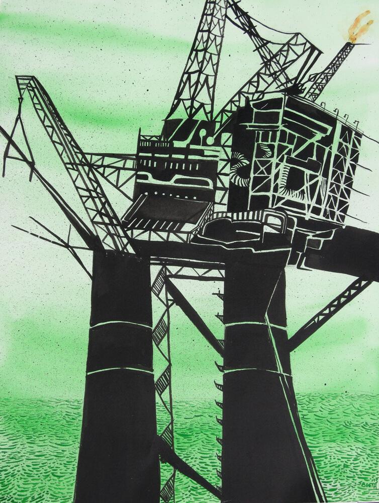 oil derrick monster